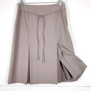 Ann Tylor Career A-Line Inverted Pleat Skirt Sz 8
